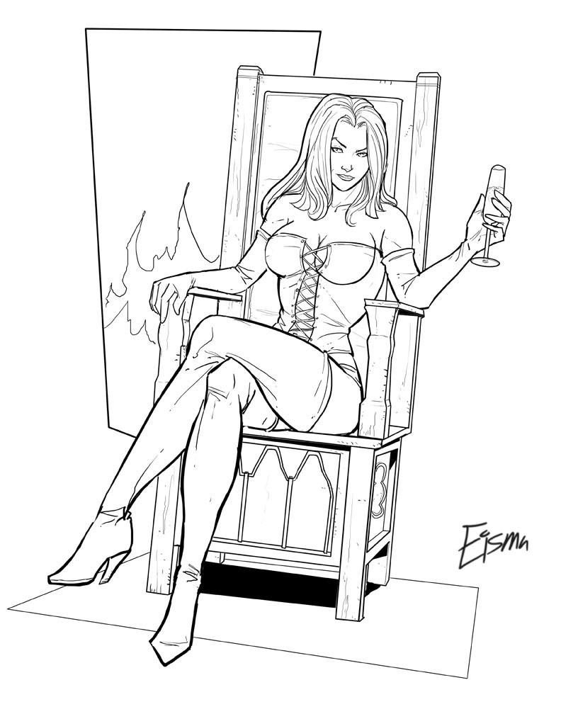 naked girl coloring pages - photo #48